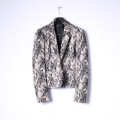 Kardashian Kollection Womens 10 S Blazer Beige Black Lace Casual Jacket