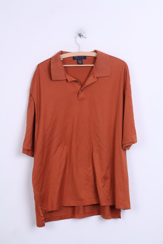 Byron Nelson Eleven Straight Mens 2XL Polo Shirt Texas Orange Cotton - RetrospectClothes