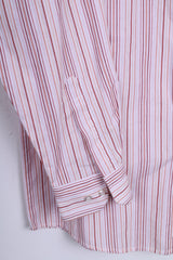 LORENZO CALVINO Milano Mens M 39 Casual Shirt Pink Cotton - RetrospectClothes
