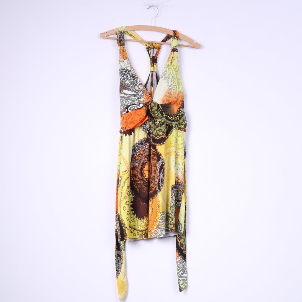 Stella Womens XL Tunic Sleeveless Yellow Abstarct Print
