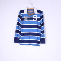 Kids By Lindex Boys 158-164 12-14 Age Polo Shirt Long Sleeve Striped Cotton Top #9