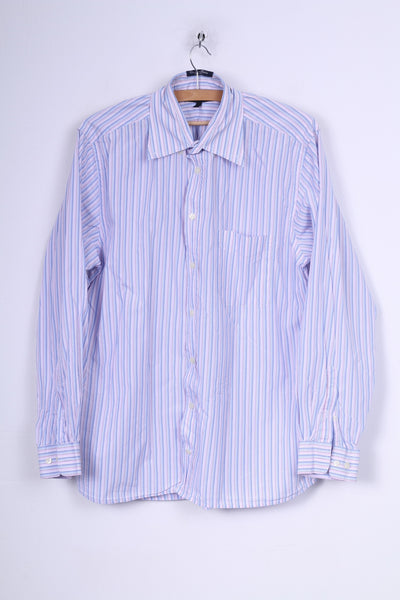 Gant Mens L Causal Shirt Regular Fit Striped Regular Fit Cotton