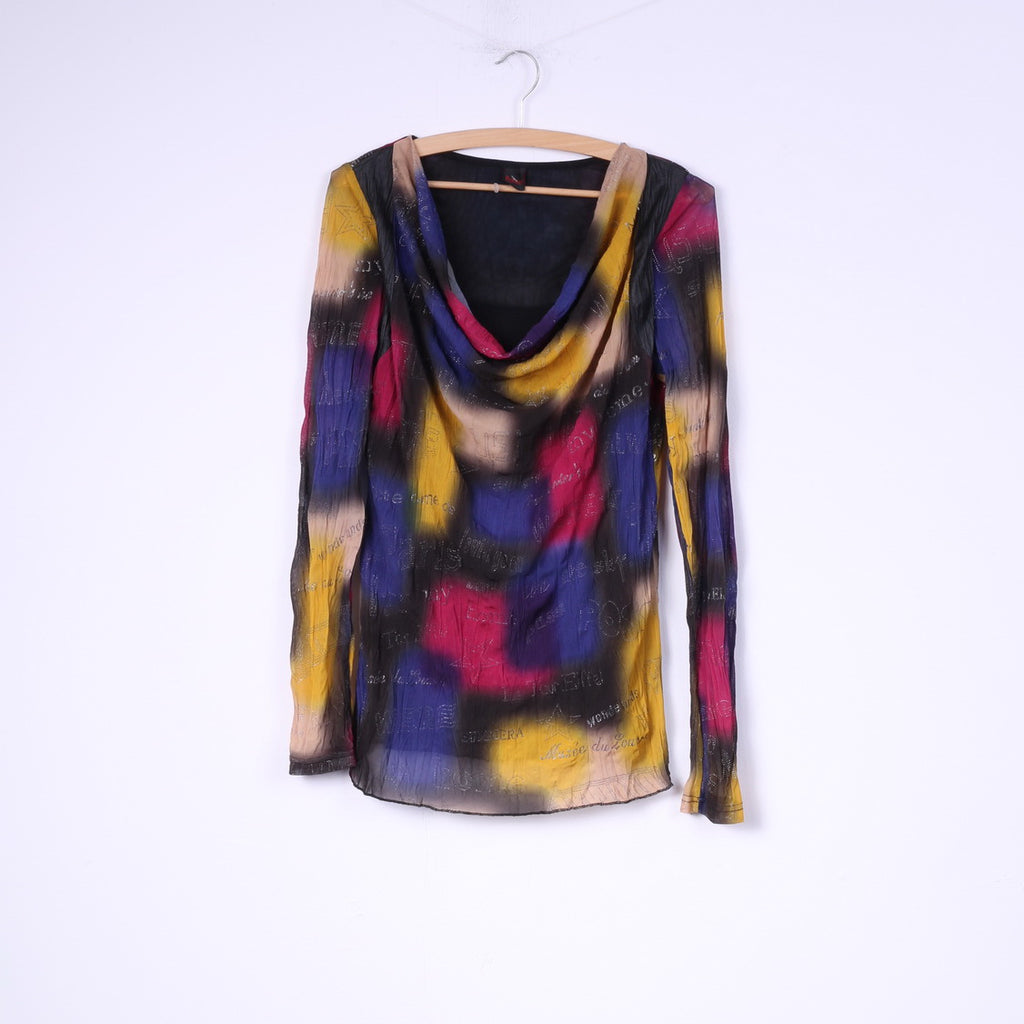 Hypnosy Womens S Tunic Multicolor Long Sleeve Abstract Top