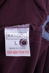 KANGOL Mens L Polo Shirt Long Sleeve Cotton Maroon Sport - RetrospectClothes