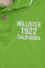 HOLLISTER Mens S Polo Shirt California Cotton Green Short Sleeve