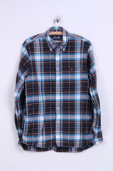 Tommy Hilfiger Mens M Casual Shirt Checkered Long Sleeve Button Down Collar Cotton