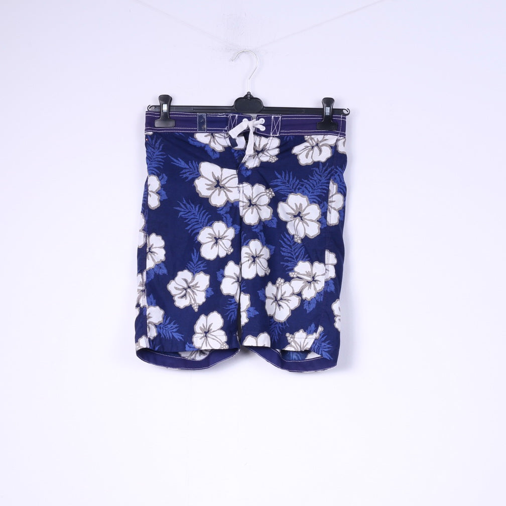 Tommy Hilfiger Mens S Shorts Navy Swimwear Surf Pants Flower Print