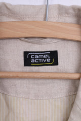 Camel Active Mens 50 L Blazer Jacket Beige Cotton Single Breasted