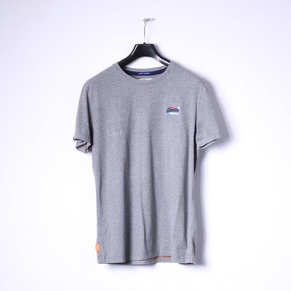 Superdry Mens XL (M) T- Shirt Grey Cotton Surf Edition Basic Tee Top