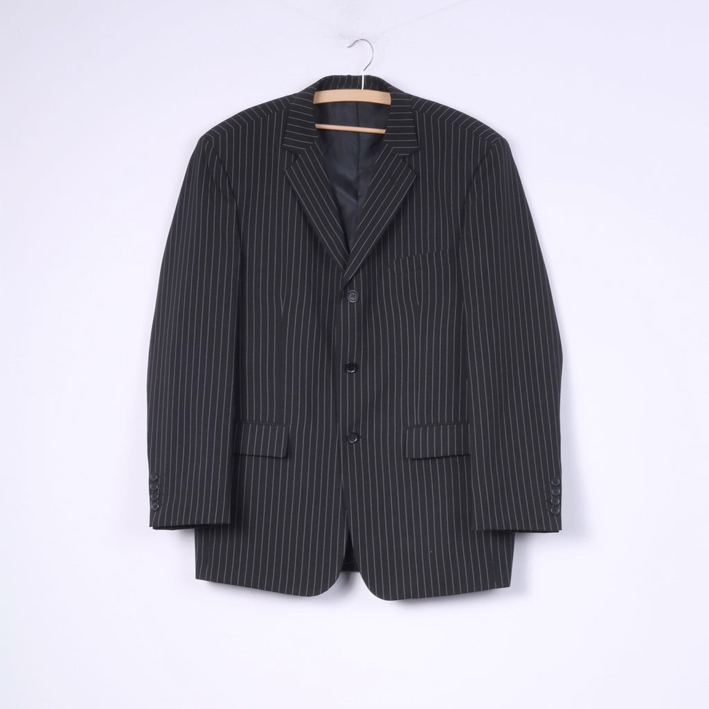 Classical Clothes Company Mens 50 L Suit Blazer Trousers 2 Pieces Black