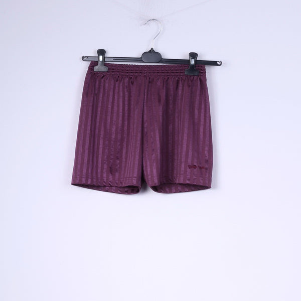 Maddins Womens 22-24 XS Shorts Shiny Purple Striped Retro Sportswear
