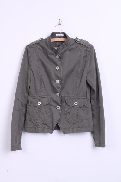 1a0449e5d1d ZABAIONE Womens 36 S Jacket Blazer Cotton Khaki - RetrospectClothes
