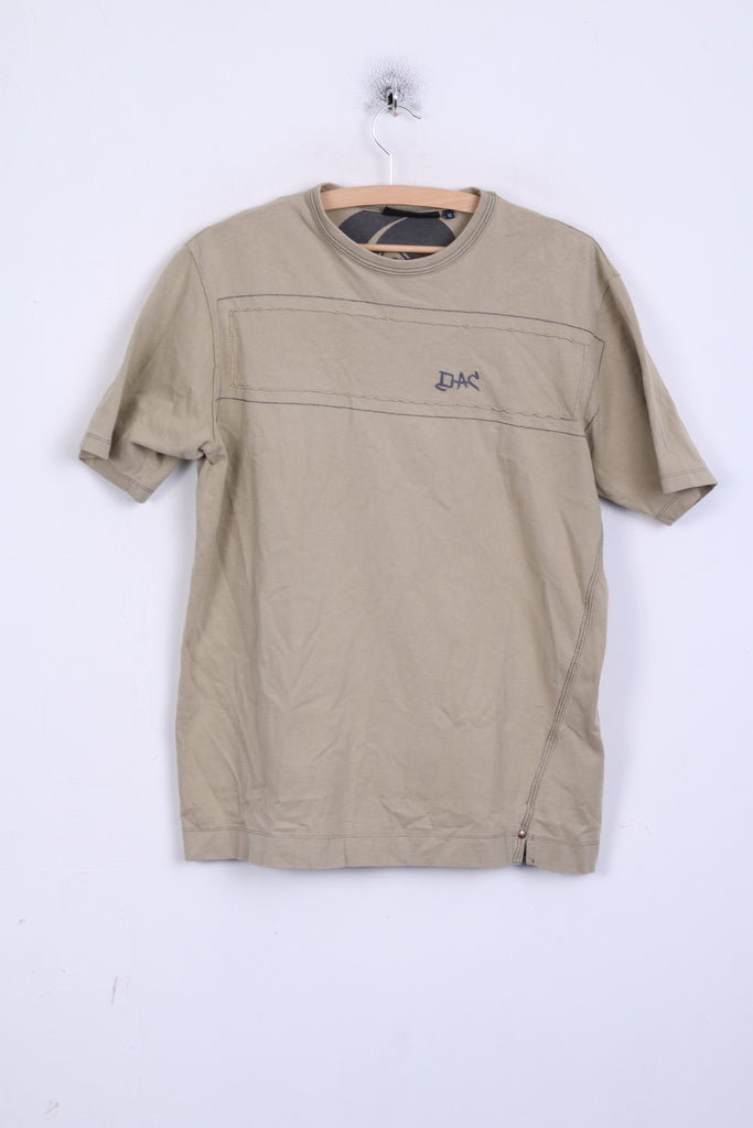 DUCK AND COVER Mens M T-Shirt Cotton Vintage Sand Crew Neck