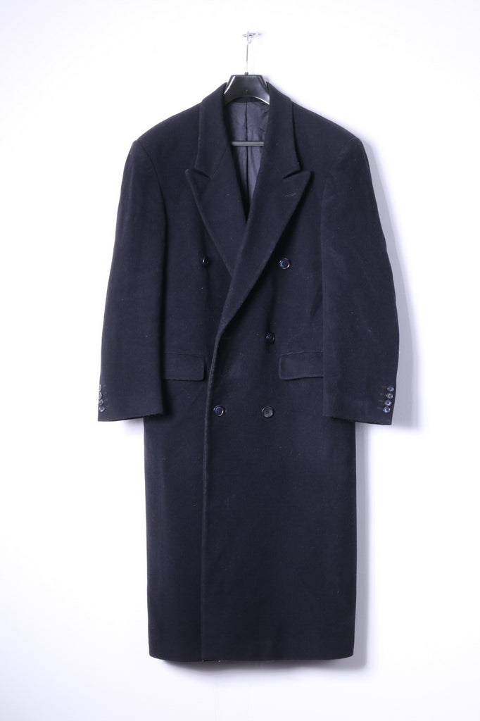 later 100% quality hot new products Pierre Cardin Mens 36R S Coat Navy Wool Cashmere Blend Double Breasted