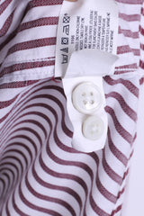 GAP Clothing Mens XL Casual Shirt Striped Cotton White - RetrospectClothes