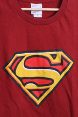 Warner Bros.Studio Store Mens M T-Shirt Red Cotton Superman Logo - RetrospectClothes