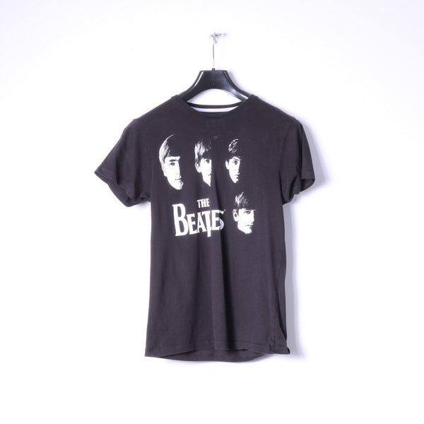 Cedar Wood State Womens S T-Shirt Black Coton The beatles Graphic Top
