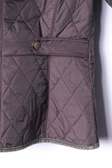 Barbour Womens 8 34 XS Jacket Brown Quilted Nylon Country Snaps Top