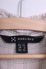 Haglofs Womens S Casual Shirt Check Short Sleeve Cotton - RetrospectClothes