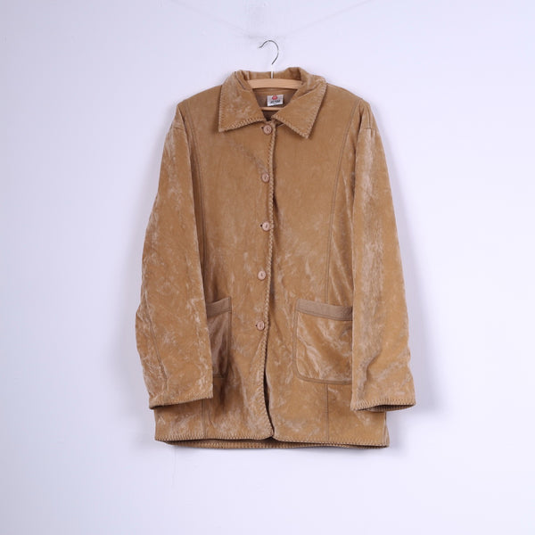 Mondo Womens 2XL Coat Single Breasted Top Camel