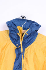 F.L.G. Members Boys 176 Lightweight Jacket Yellow Full Zipper Hooded Nylon Waterproof
