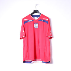 Umbro Mens XL Shirt Red Nationale England Football Jersey Top
