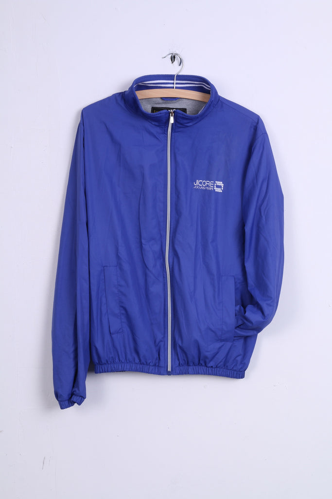 Jack & Jones Mens M Jacket Cobalt  Zip Up JICORE Top