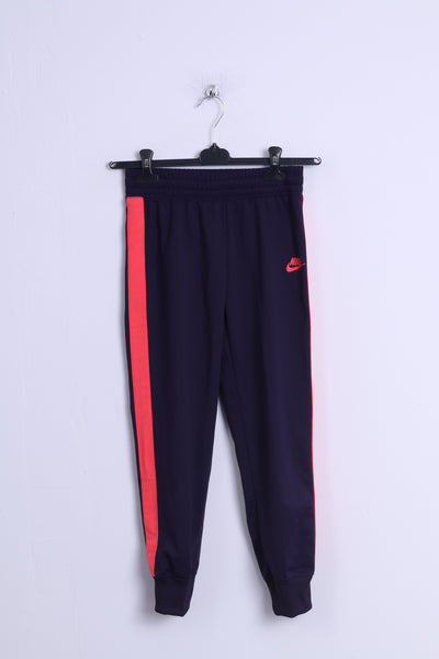 Nike Girls 137-146cm 10-12 Age Sweatpants Purple Shiny Sport Gym Trousers