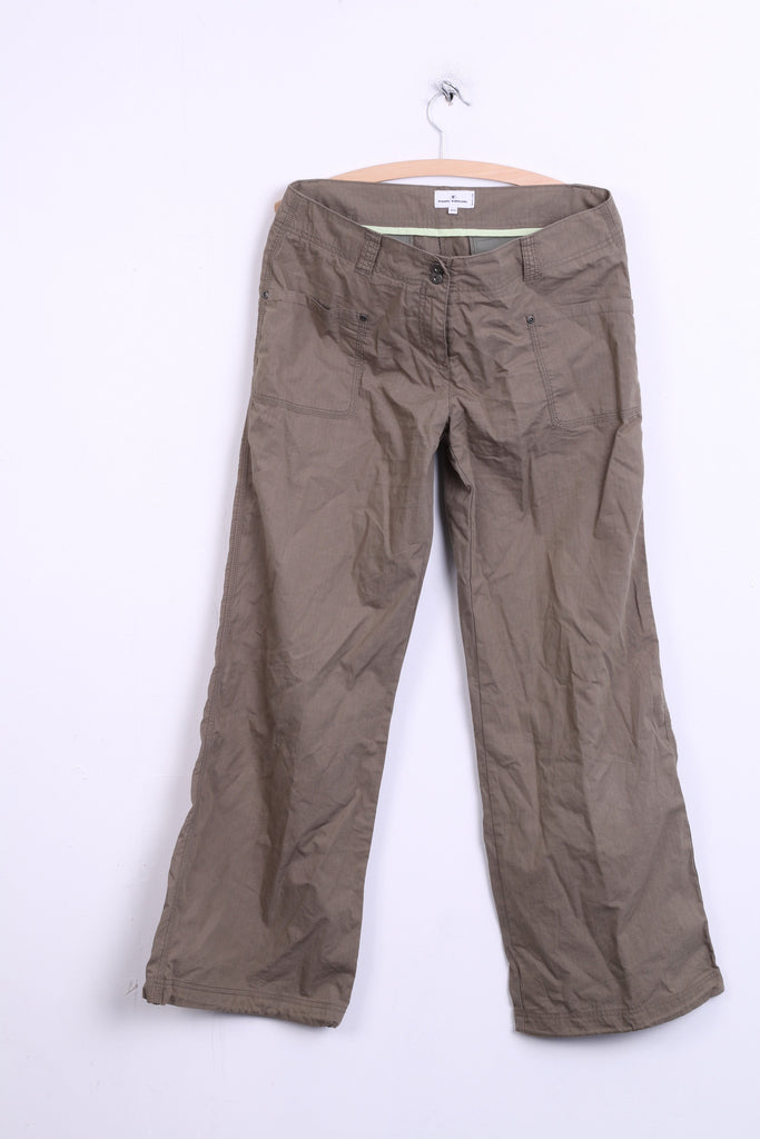 Tom Tailor Womens Trousers W40 L32 Cotton Green Maya Low - RetrospectClothes