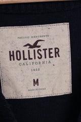 Hollister California Mens M Jumper V Neck Sweater Dark Blue Wool