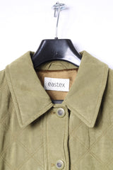 Eastex Womens 14 40 Jacket Quilted Green Buttoned Retro Coat Top