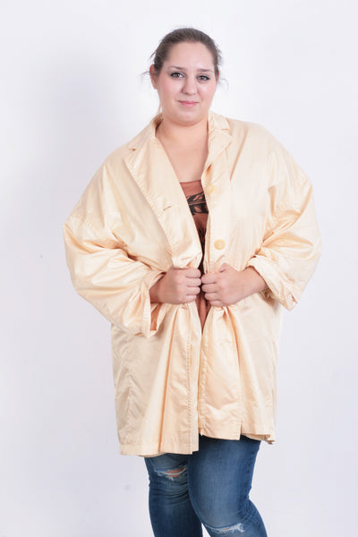 Bernd Berger Womens 38 M Coat Nylon Apricot Color Waterproof Jacket - RetrospectClothes