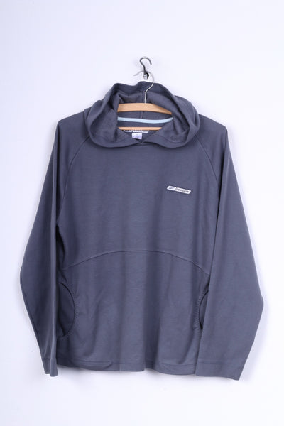 Reebok Womens 14 L Sweatshirt Hooded Jumper Grey Sportswear