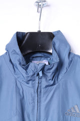 Adidas Mens M Jacket Blue Lightweight Full Zipper Run Sportswear Bomber Top
