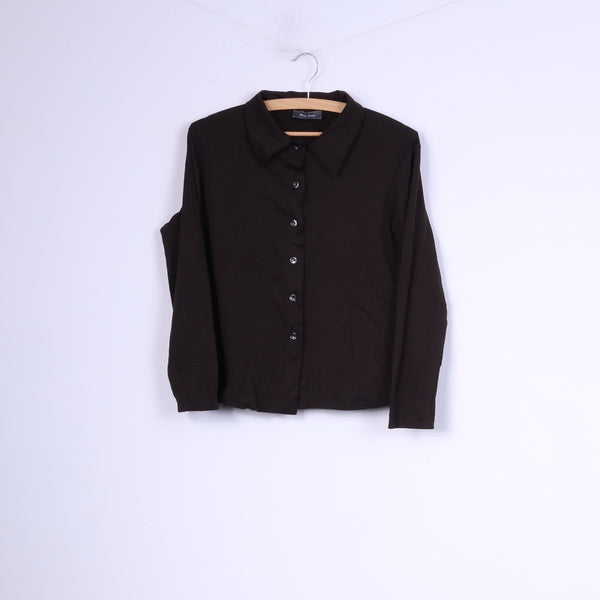 Marc Aurel Womens 38 M Casual Shirt Blouse Black Top Nylon