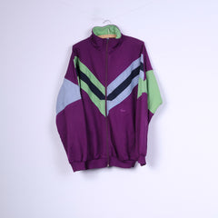 C&A Rodeo Mens XL 56-58 Sweatshirt Purple Sportswear Top Cotton Full Zipper