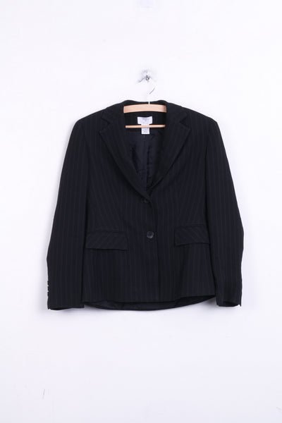 Ann Taylor Womens S Blazer Jacket Striped Top Suit Single Breasted - RetrospectClothes