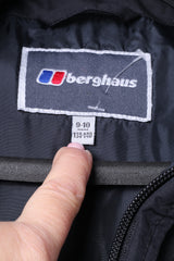 Berghaus Boys 9-10 Age 134-140 Jacket Black Padded Hooded Outdoor Top