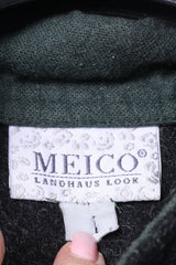 MEICO Landhaus Look Womens M Jumper Grey Wool Tyrol Austria Sweater Top