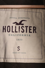 HOLLISTER California Mens S Sweatshirt Jumper Green Padded Cotton - RetrospectClothes