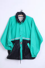 K-Way International Mens L Jacket Waterproof Nylon Green Hood - RetrospectClothes