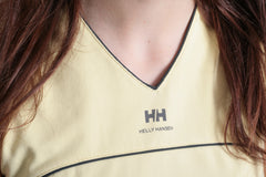 Helly Hansen Womens M Shirt Sleeveless Yellow V neck Top - RetrospectClothes