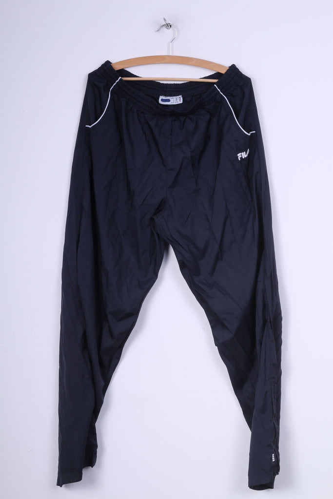 Fila Mens XL Sweatpants Trousers Sport Navy Track Pants