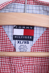 Tommy Hilfiger Mens XL Casual Shirt White Check Button Down Collar - RetrospectClothes