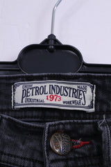 Petrol Industries Womens W28 L34 Trousers Black Slim Fit Black Cotton Denim