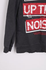 C&A There here Boys 158/164 Sweatshirt Hood Cotton Grey TURN UP THE NOISE