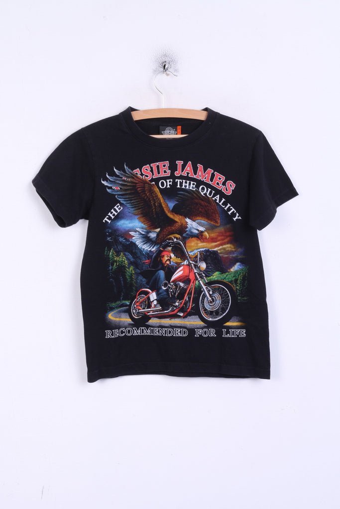 Rock Eagle Mens S T-Shirt Jessie James Black Cotton
