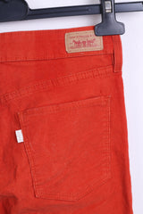 Levis Strauss&Co Womens W25 L29 Trousers Red Legging Cotton Corduroy - RetrospectClothes