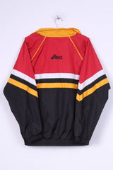 Asics Bradford Bulls Mens L Jacket Full Zipper Rugby League Club Black Sport
