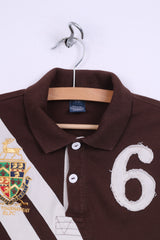 Polo by Ralph Lauren Womens S 8 Polo Shirt Brown Short Sleeve Golf Tournament RLPC #6